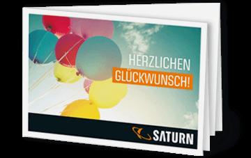 """Gutschein Card """"Ballons"""" Sofortdruck"""